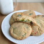 Funfetti Cake Mix Cookies on Plate