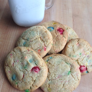Funfetti Cake Mix Cookies with Milk 2