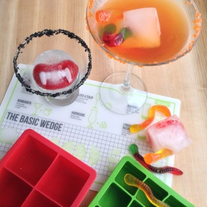 Halloween Cocktails with Ice Math Mat & Tovolo Ice Trays