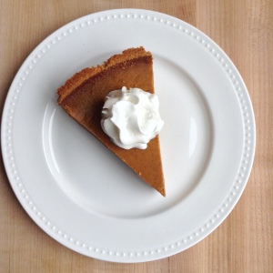 Pumpkin Pie Recipe Slice Overhead