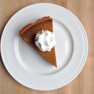 Pumpkin Pie Recipe Slice Overhead