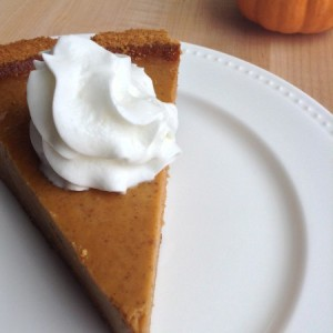 Pumpkin Pie Recipe Slice with Cream 2