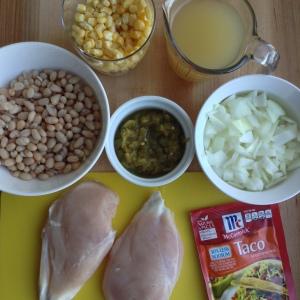 Slow Cooker White Chicken Chilli Ingredients
