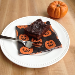 Three Ingredient Pumpkin Oreo Brownie Cut Fork 2