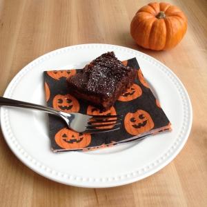 Three Ingredient Pumpkin Oreo Brownie Cut Fork 2