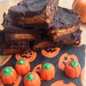 Three Ingredient Pumpkin Oreo Brownies Main Image