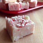 Festive Peppermint Fudge Close Up