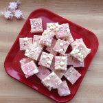 Festive Peppermint Fudge - with candy