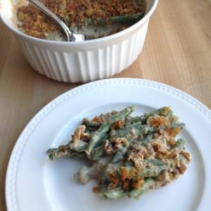 Green Bean Casserole Recipe On Plate