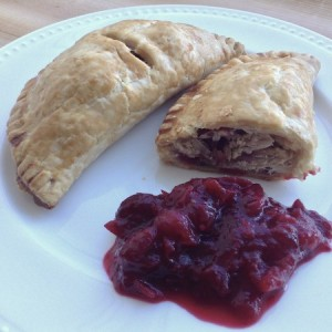 Boxing Day Pasties with Cranberry Sauce