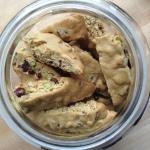 Cranberry Pistachio Biscotti Recipe in Jar Top