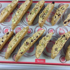 Cranberry Pistachio Biscotti Recipe on Tray