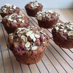 Cranberry Sauce Muffins On Cooling Rack