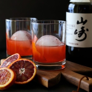 NYE 2015 Blood Orange Whisky Negroni