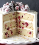 NYE 2015 Cranberry White Choc Cake