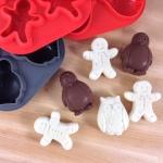 Peppermint Patty Penguins & Mint Crunch Men 3 Moulds -