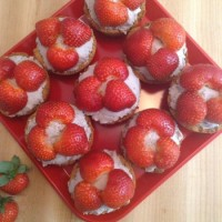 Strawberry & Coconut Cream Tarts