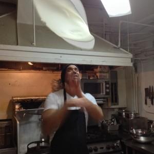 Thaifusions Swimming Rama Thai Pizza Max Throwing the Dough