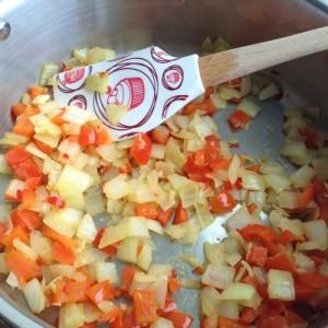 Chicke Tortilla Soup - Fry Veg