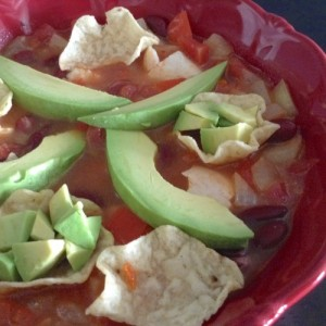 Chicken Tortilla Soup Close Up