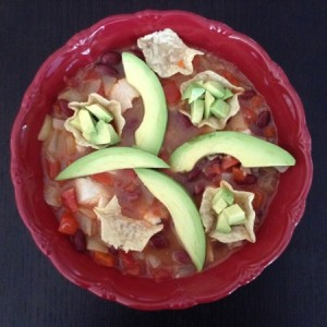 Chicken Tortilla Soup Overhead