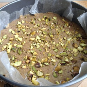 Persian Love Cake Ready for Oven