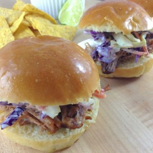 Pulled Pork Sliders Close Up