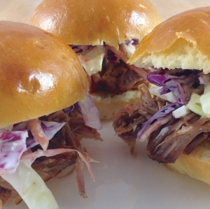 Pulled Pork Sliders Plate Close Up