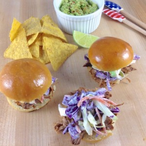 Pulled Pork Sliders with Chips Guac