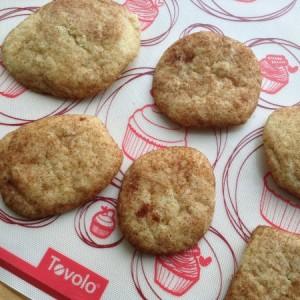 Snickerdoodles Cookies on Baking Mat
