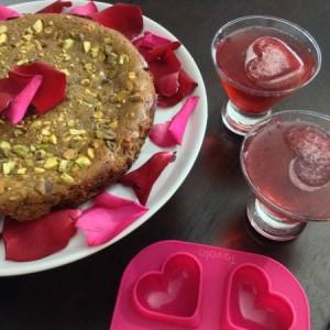 Valentines Vodka Spritzer Cake Mould Overhead