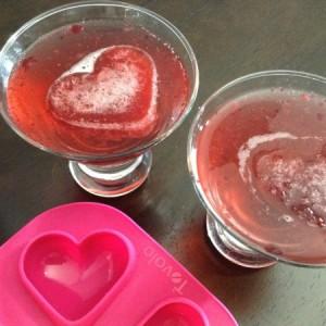 Valentines Vodka Spritzer Close Up with Mould