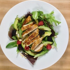 Chicken Pomegranate Salad Overhead