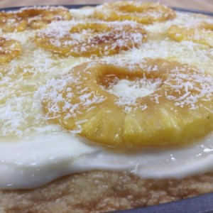 Pineapple Dessert Pizza Grill Side Shot