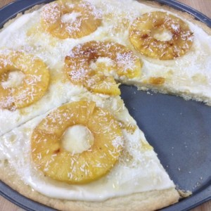 Pineapple Dessert Pizza Slicing Slice Gone