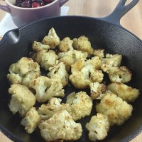 Skillet Roasted Cauliflower