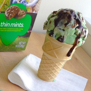 Thin Mints Ice Cream Cone