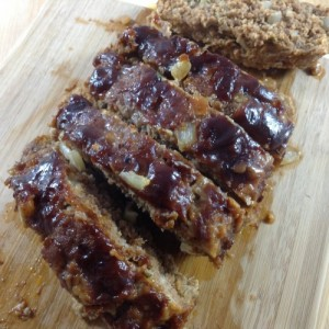 BBQ Bacon Meatloaf Sliced