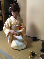 Horinji Temple Tea Ceremony Lady