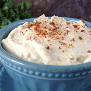 Home-Made Hummus Close Up