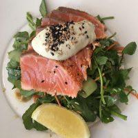 Jackies Salmon Tataki Salad