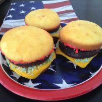 Cupcake Sliders 3 on a Plate