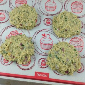 Falafel Burgers on Baking Mat