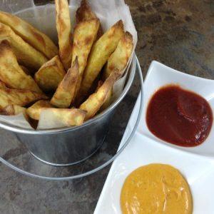 Cumin Fries with Harissa Ketchup