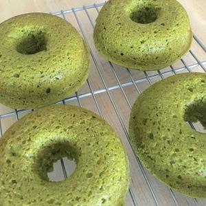 Matcha Green Tea and Rose Donuts Green Donuts