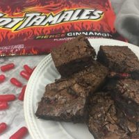 Chewy Gooey Hot Tamales Brownies