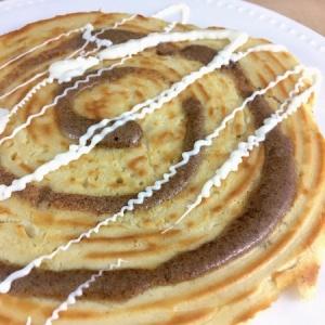 cinnamon-roll-pancakes-large-on-plate-450