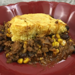 Cornbread Topped Texan Cowboy Pie FAIL