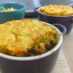 Cornbread Topped Texan Cowboy Pie Front