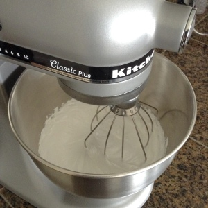 Whisk Egg Whites for Homemade marshmallow fluff